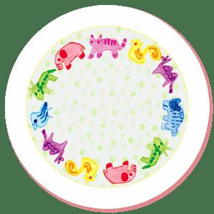 円形の飾り枠